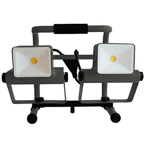 Eco Light flessibile lavoro luce gufo, orientabile, 2280lm, 2COB LED, 30W, lampada a piantana, 37,5x 25,6cm, IP546224GR