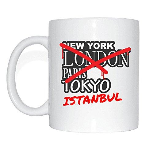 JOllify ISTANBUL Kaffeetasse Tasse Becher Mug M3032 - Farbe: weiss - Design 3: Graffiti Streetart New York