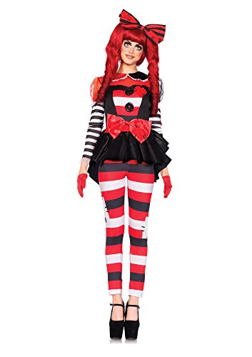 Doll Kostüm Kostüm Damen Rag (Leg Avenue 85443 - Rag Doll Kostüm, Größe Large (EUR)