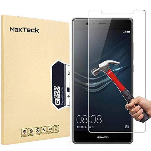 [3 Stück] Huawei P9 Schutzfolie, MaxTeck Gehärtetem Glas Panzersglas Hartglas Bildschirmschutz für Huawei P9 9H Härte, Anti-Kratzen, Anti-Öl, Anti-Bläschen