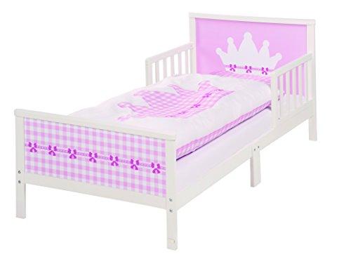 roba Themenbett 'Krone', Kinderbett 70x140cm inkl. Matratze, Lattenrost für Mädchen