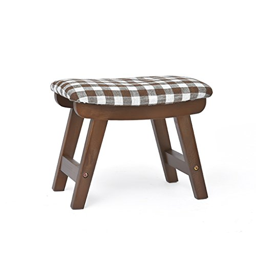Tabouret lavable en bois de hêtre lavable à la maison de tabouret de chaussures adulte de tabouret 38.5 * 25.5 * 29cm ( Color : Brown )