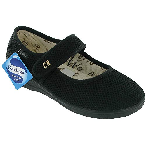 Mirak 204 Canvas Dolly Shoe Black Size 7 Schuhe Dolly