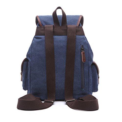 Outreo Borsa Donna Zaino Ragazza Borsello Vintage Bag Laptop Backpack per Studenti Scuola Università Casual Borse Viaggio Coulisse Zaini Firmate Sacchetto Blu
