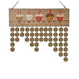 Calendriers en Bois de Bricolage Famille Calendriers muraux imprimés du Coeur signent des Dates spéciales Rappel Conseil Maison Cadeau Suspendu 5 Style (Color : B, Taille : 40 * 12CM)