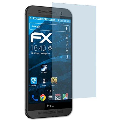 atFolix Schutzfolie kompatibel mit HTC One M9 Folie, ultraklare FX Bildschirmschutzfolie (3X)