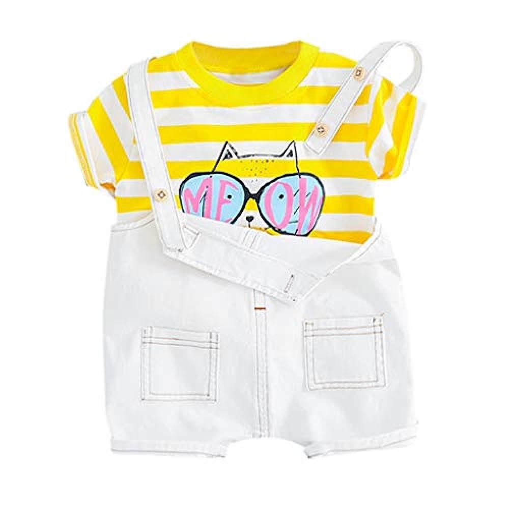 De feuilles Baby Anz/üge f/ür Jungen Gentlemen Kinder 3 St/ück Bekleidungssets T-Shirt Romper Latzhosen mit Fliege