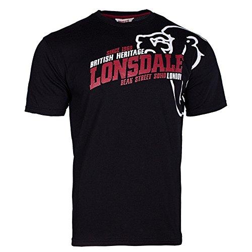 Lonsdale London Herren Oberteile / T-Shirt Walkley schwarz 4XL