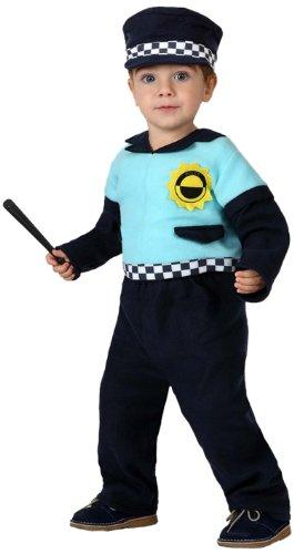 Atosa-16113 Disfraz Policía, Color Negro, 0 a 6 Meses (16113