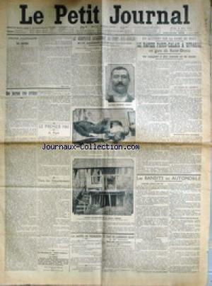 PETIT JOURNAL (LE) [No 18024] du 02/05/1912 - LE RAPIDE PARIS-CALAIS A DERAILLE - LE QUINTUPLE ASSASSINAT DU PONT-DES-GOULES - L'ASSASSIN GUILLAUME COURMIER - LES EPOUX MANDONET - LA SANTE DE VEDRINES - LE CORPS DE L'AERONAUTE LELOUP A ETE RETROUVE - LE 1ER MAI A PARIS.