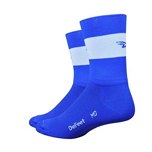 Defeet Aireator Team Doppelstulpen Socken, Unisex-Erwachsene Herren, königsblau, Large -