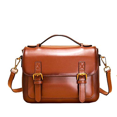 Yy.f New Leather Handbags Shoulder Messenger Leather Handbags Newborse Shoulder Bag 3 Colori Marrone