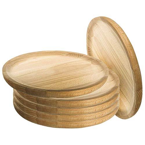 Artema - Holzteller Rund - Holzplatte - Kiefer - Set 6 - Ø 20 cm