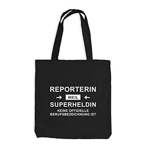 Borsa Di Juta - Reporter Super Heroine - Eroe Professione Nero