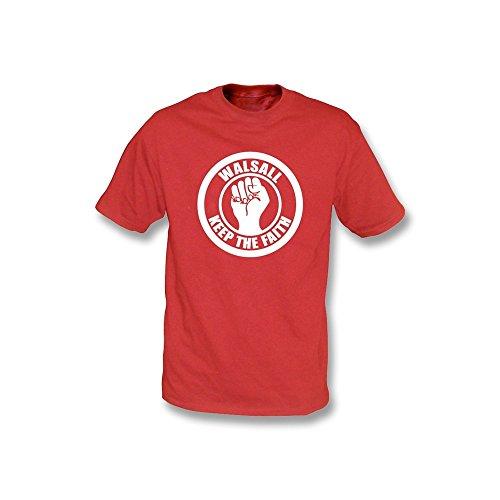 Walsall halten das Glauben-T-Shirt Rot