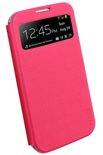 Fenice-Custodia Piatto per finestra, colore: rosa-Italian-Custodia a portafoglio in pelle