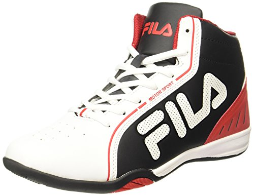 Fila Men's Isonzo II Wht, Blk and Rd Sneakers - 6 UK/India (40 EU)(11003965)