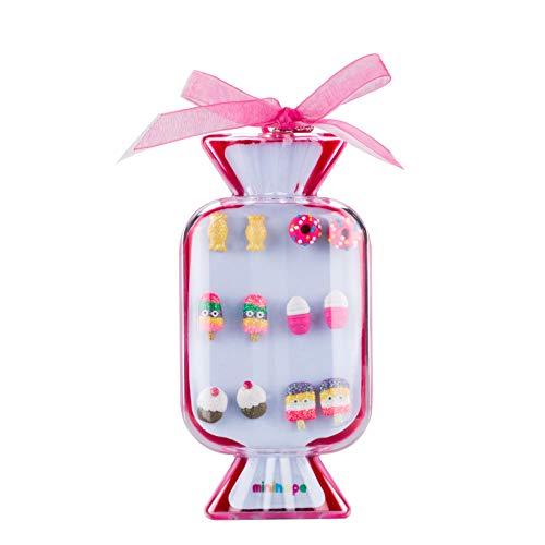 minihope Colorful postres Stud Pendientes Set para niños niñas en ca