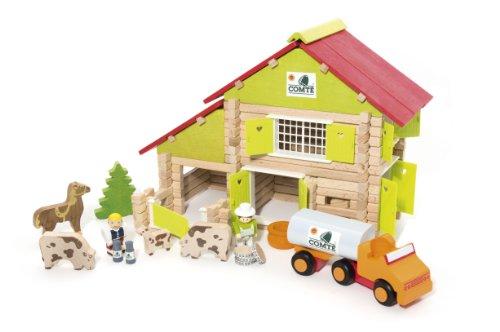 Jeujura - 8054 - Jeu de Construction - Chalet à Comte avec Camion et Animaux - 180 Pièces
