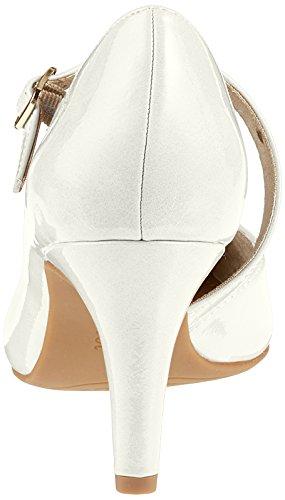 s.Oliver 24401, Scarpe con Tacco Donna Bianco (White Patent)