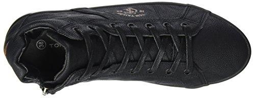 Tom Tailor 3791602, Baskets Hautes Femme Schwarz (Black)