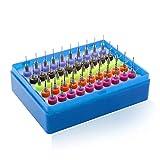 EisEyen 50 Pezzi PCB Punte per Trapano, per microincisioni per circuiti Stampati 0.5-0.9 mm con Scatola di plastica