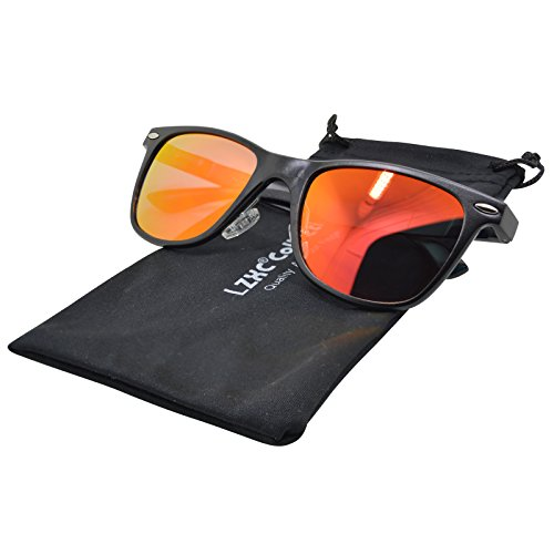 LZXC Verspiegelte Wayfarer polarisierte Sonnenbrille Revo Fashion Vintage Style Unisex AL-MG Metallart UV400 Schutz Sonnenbrille