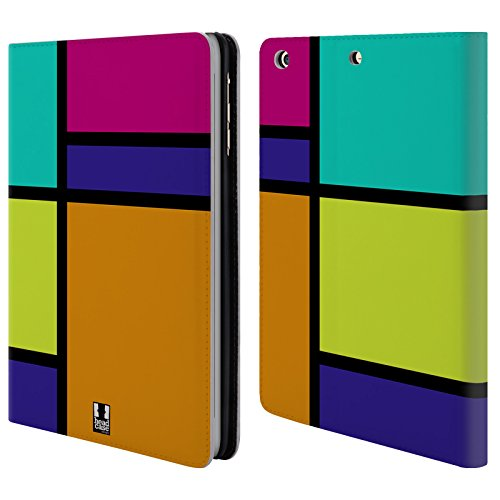 Official One Direction 1D Retro Hued Tiles Leather Book Wallet Case Cover for Apple iPad Mini