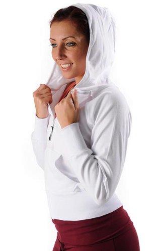 Schmetterling Jacke mit Kappe Lässige Jogginghose Jacke Sport weiß