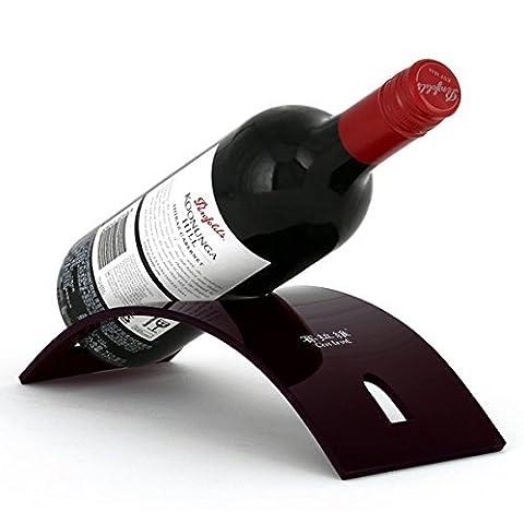Tisch Weinregal, Han Shi Champagner Wein Tischplatte Rack Halter Ablage für einzelnen Flasche (A)