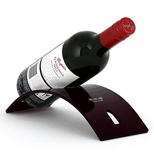 Kiefer Ecke Rack (Tisch Weinregal, Han Shi Champagner Wein Tischplatte Rack Halter Ablage für einzelnen Flasche (A))