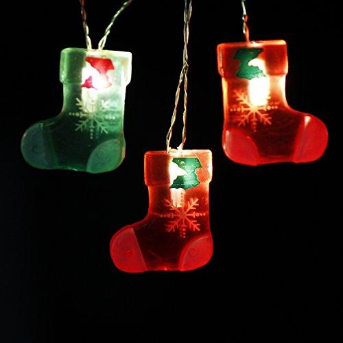 Weihnachtsdekoration Lichterkette Batterie, Strumpf Neujahr Dekorative Beleuchtung 10 ft 20 LEDs (großes Symbol) mit Fernbedienung für Weihnachtsbaum, DIY Home Geburtstag Hochzeitsfeier -