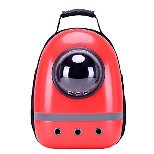 NINOMI Pet Bag Pet Outing Katzentasche atmungsaktiv tragbare Kabine Schulter Katzentasche Hund Rucksack Space Bag,Red -