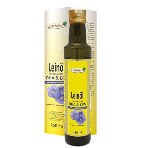 Adrisan Leinöl bio* mit DHA 250ml - Nahrungsergänzung