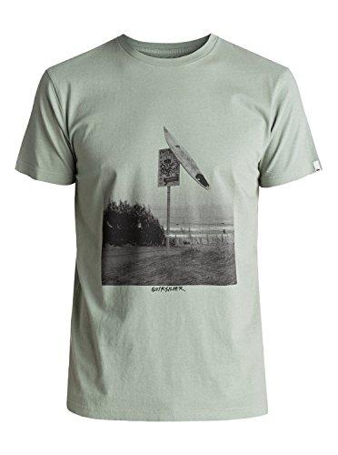 Quiksilver Premium East Smashed - T-Shirt - T-Shirt - Männer - L - Grün