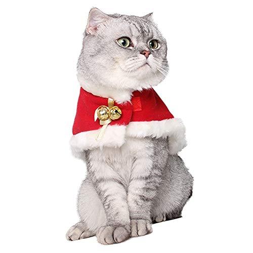 ZuckerTi Haustier Weihnachten Kleidung Bekleidung Kostüm Deckmantel Mantel Katzenkostüm Weihnachtskostüm Hoodie mit Schelle Glocken zu Party Cosplay Fest Feiertage für Katze Katzen Hund Hunde