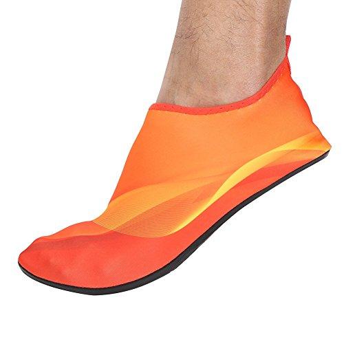 MORESAVE Wassersport Schuhe Strand Pool Tanz Schwimmen Surf Yoga Schuhe Stiefel f眉r Damen Herren Orange