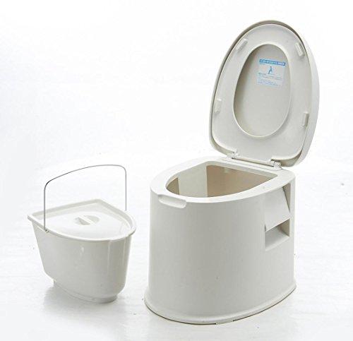 WAOBE Kunststoff Anti-Skid Dicker Moving Toilette Schwangere Frauen Ältere Patienten Indoor Toilette Leicht zu Tragen