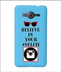 KolorEdge Back Cover For Samsung Galaxy Core II - Sky Blue (2032-Ke15152SamCore2SBlue3D)