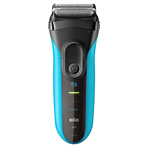 Braun Series 3 ProSkin 3010s Rechargeable Cordless Wet and Dry Electric Shaver/Razor for Men – Blue