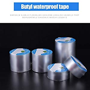 Cinta de caucho de butilo de aluminio resistente a altas temperaturas, resistente al agua, para reparación de grietas en la pared, reparación de huecos de metal 5cm*5m