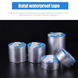 Cinta de caucho de butilo de aluminio resistente a altas temperaturas, resistente al agua, para reparación de grietas en la pared, reparación de huecos de metal