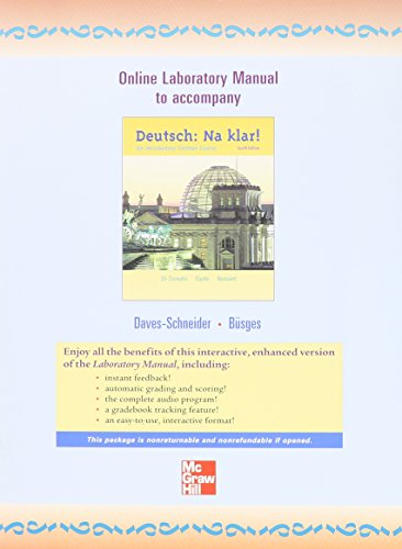 Online Laboratory Manual to Accompany Deutsch: Na Klar!: An Introductory German Course