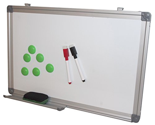 product-nation-30-x-45cm-whiteboard-drywipe-magnetic-with-pen-tray-aluminium-trim-and-accessory-pack