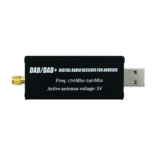 DAB/DAB+ USB Adapter, XISEDO DAB Dongle im Auto DAB Digital Radio Empfänger DAB USB 2.0 Stick mit DAB Autoantenne für Android Autoradios