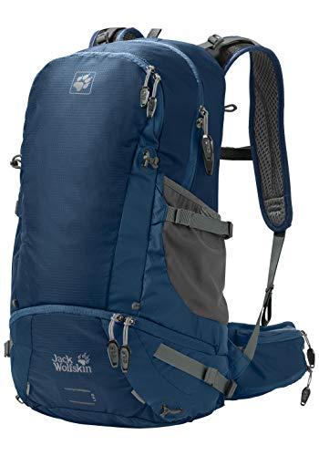 Jack Wolfskin Moab Jam 34 Wandern Outdoor Trekking Rucksack, Poseidon Blue, 57x34x9 cm