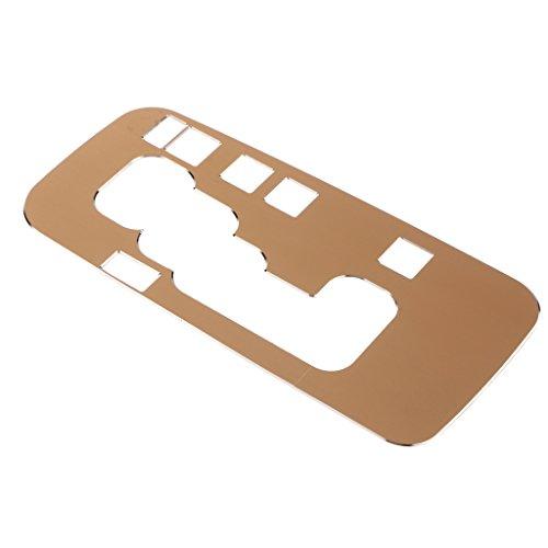Homyl 1 Stück Emblem Mittelkonsole Schaltknauf Rahmen Blende Abdeckung Auto Zubehör - Gold