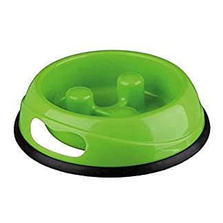trixie slow feed plastic dog bowl 0.45 liter (pack of 1) Trixie Slow Feed Plastic Dog Bowl 0.45 Liter (Pack of 1) 41GnAicyOUL