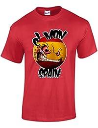 Men's Spain T Shirt Football T Shirts Spanish Flag Espana Tee Shirts