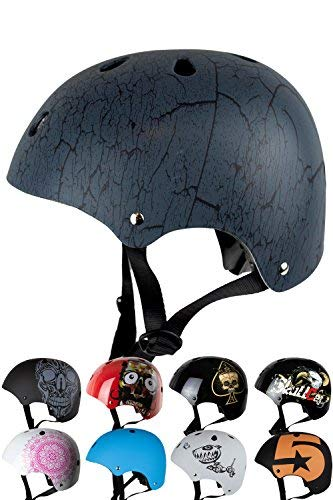 Preisvergleich Produktbild Skullcap® BMX Helm - Skaterhelm - Fahrradhelm - Herren / Damen / Jungs & Kinderhelm Gr. S (53 – 55 cm),  Crack NextLevel